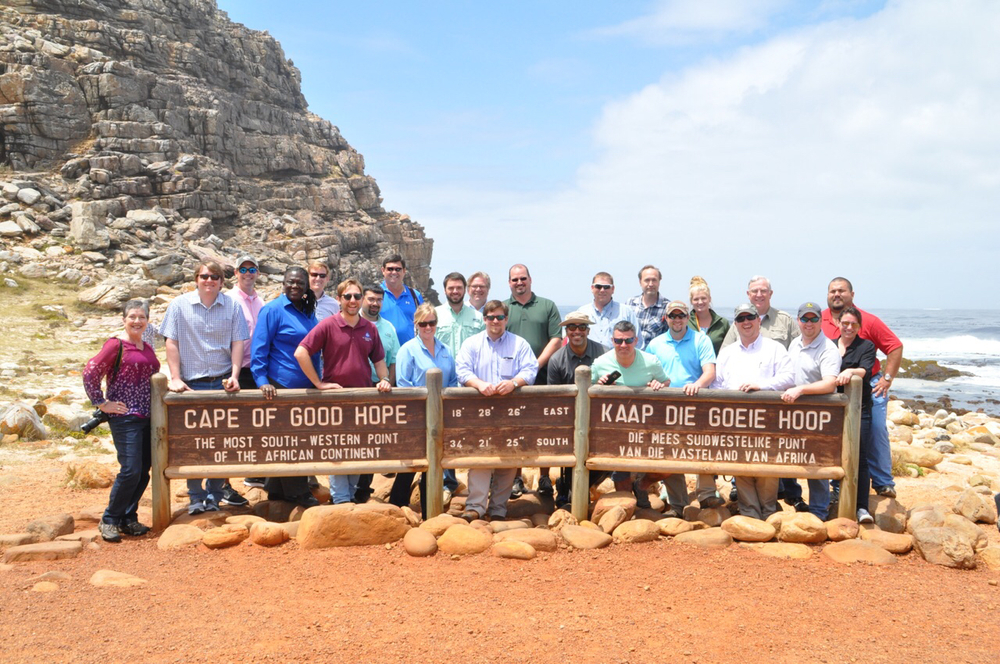 Class photo at the Cape of Good Hope!