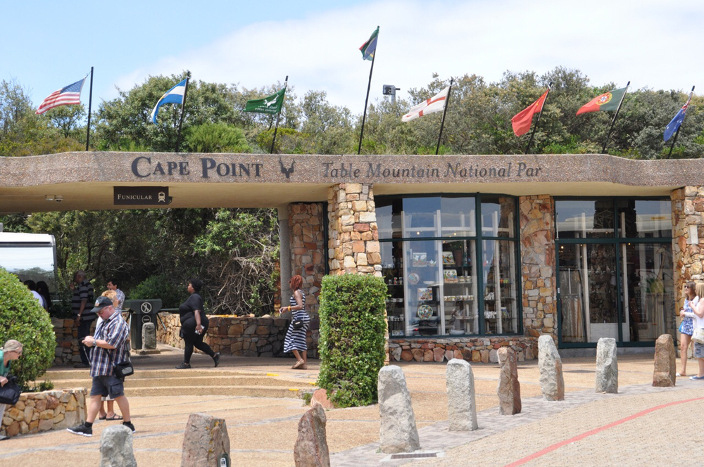 Cape Point. The pick up point for the funicular that takes you to the historic lighthouse at the Point.