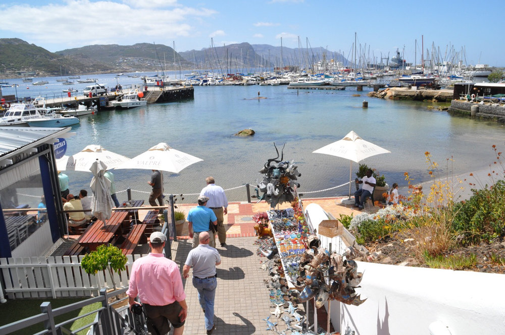 View of the harbor at Simon's Town. This provincial city is home one of South Africa's Navy Bases.