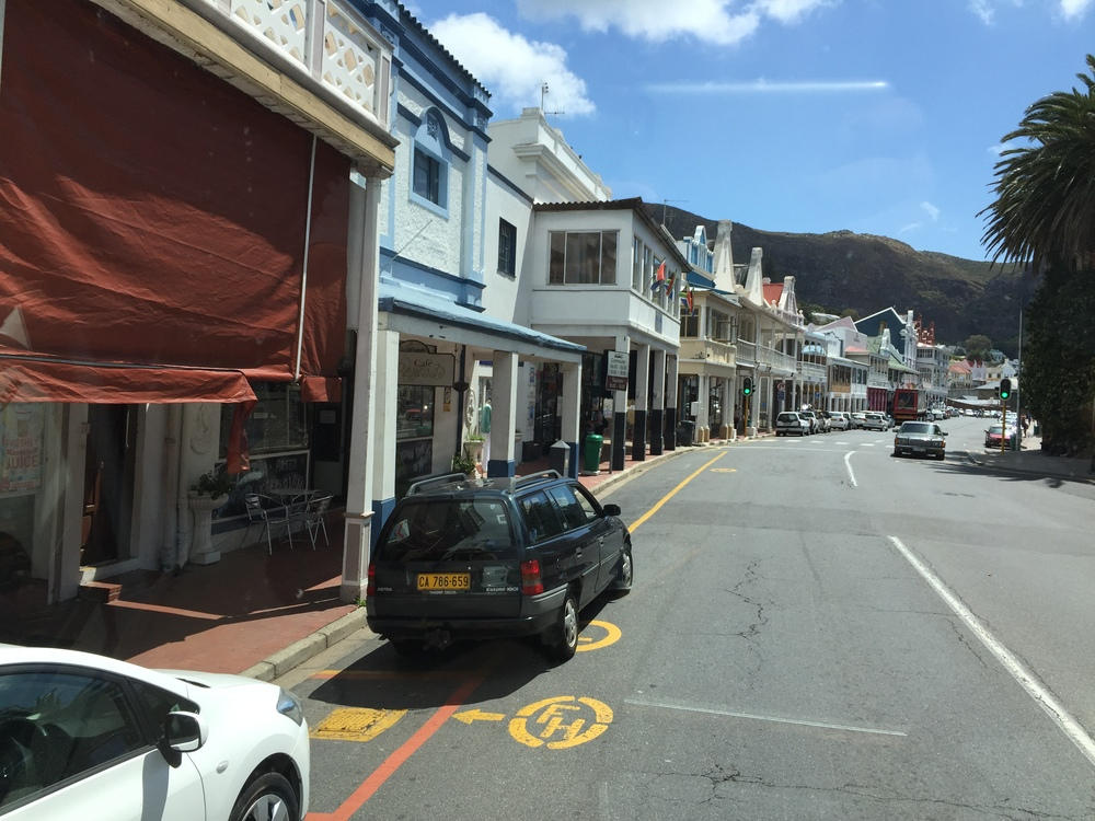 A view of Simon's Town, located on the eastern peninsula of Cape Town.
