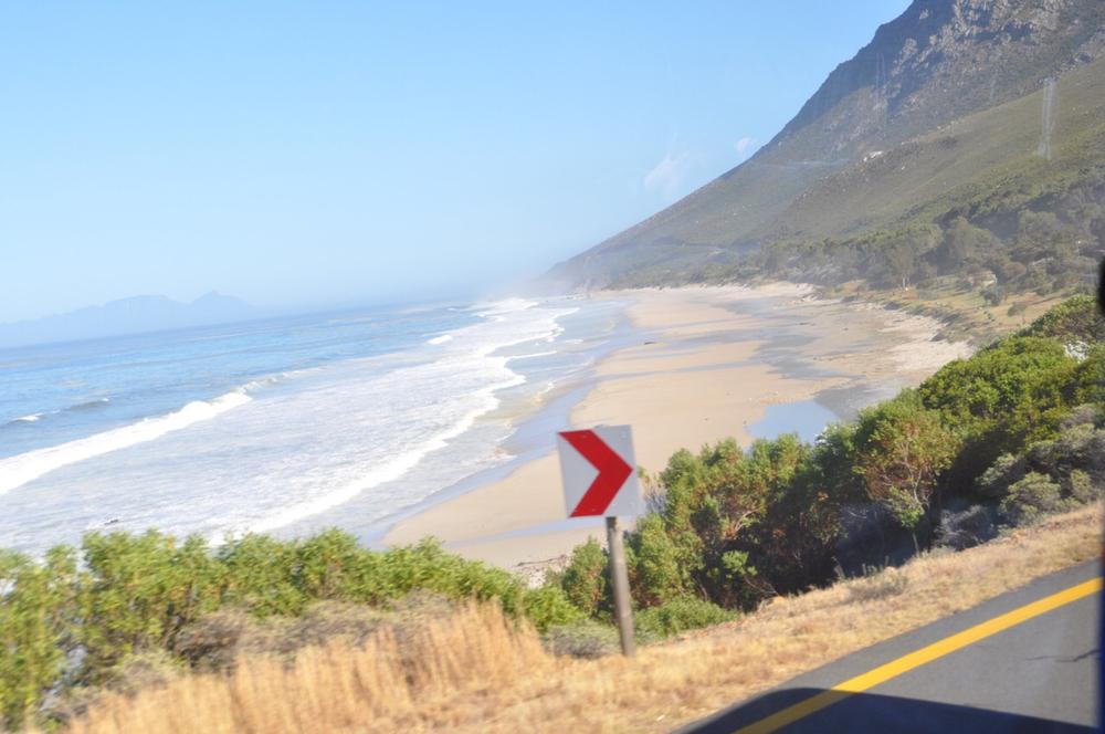 A beach view near Gordon's Bay near Cape Town