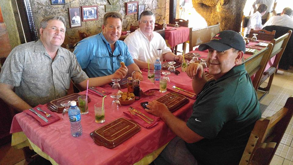 Louisiana Farmers in Cuba  -Shown L-R:Greg Gravois, Back Vacherie; Marty Wooldridge, Oil City; Jim Harper, Cheneyville; and Mike Melancon, Breaux Bridge.
