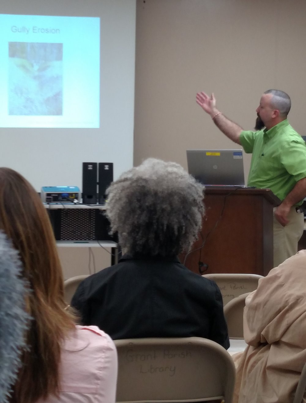 Kirk Garber, USDA Natural Resources Conservation Service, presents at a recent USDA Strikeforce Outreach event.