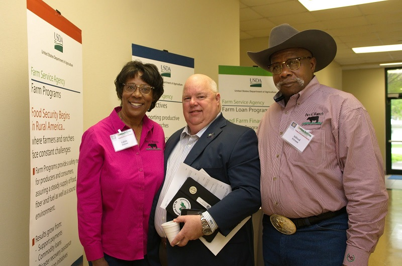 Edith Gross, Louisiana Commissioner of Agriculture Mike Strain and Alfred Gorss