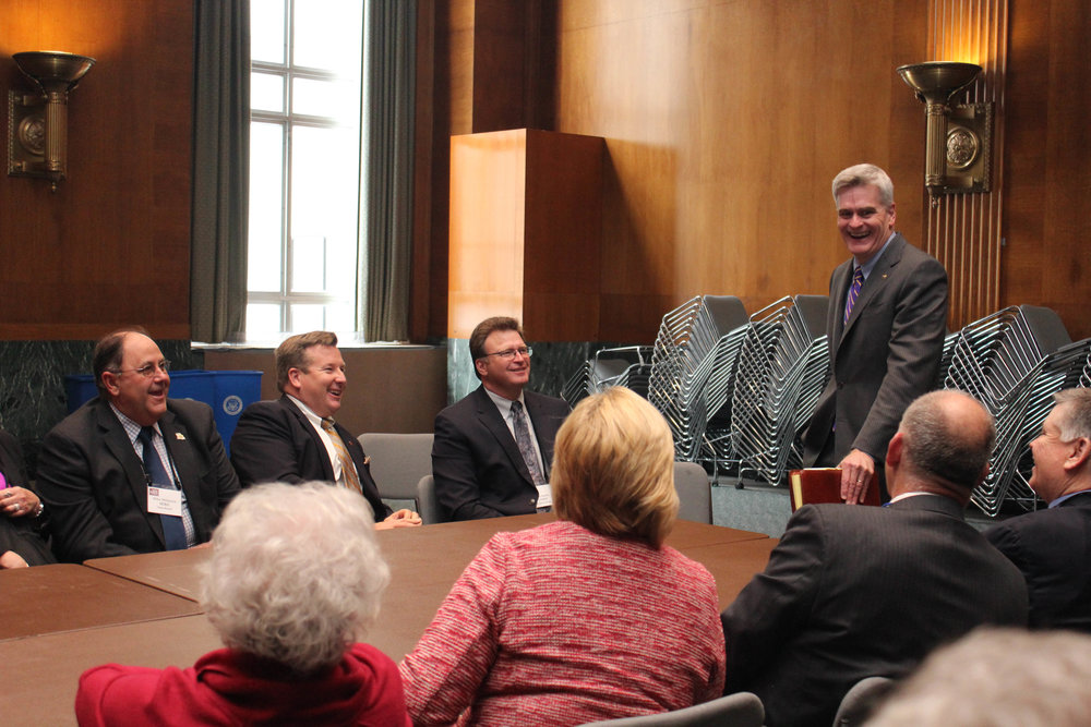 Louisiana farmers and ranchers met with Senator Bill Cassidy during their visit to Washington D.C. Tuesday.  Photo by Carey Martin.