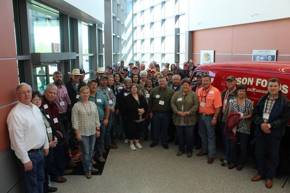 The Louisiana Farm Bureau's livestock committee toured Tyson Foods in Springdale, Arkansas.