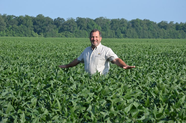 Levy in bean field.jpg