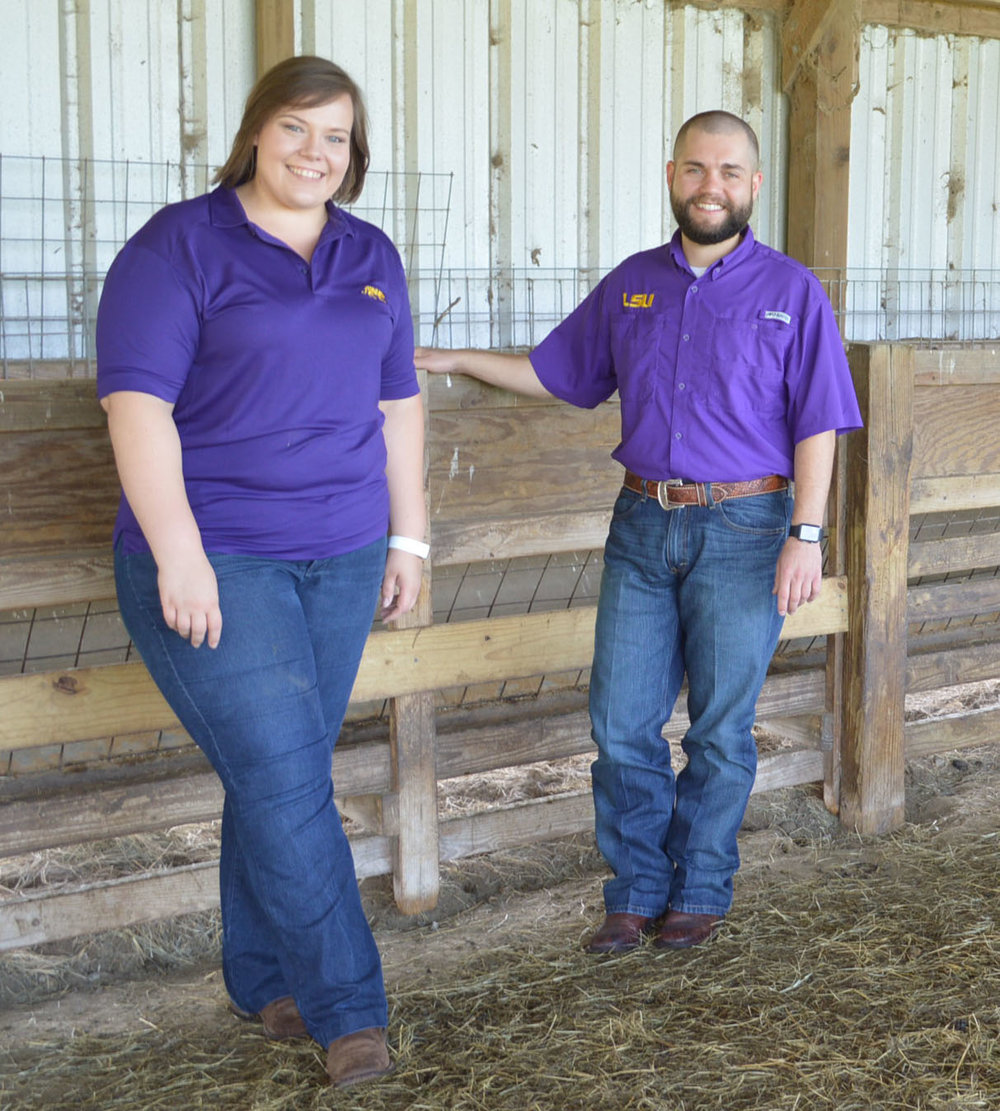 Crystal Ahrens and Tyler Braud, plan to expand 4-H and the LSU AgCenter and College of Agriculture livestock programs. Photo by Tobie Blanchard