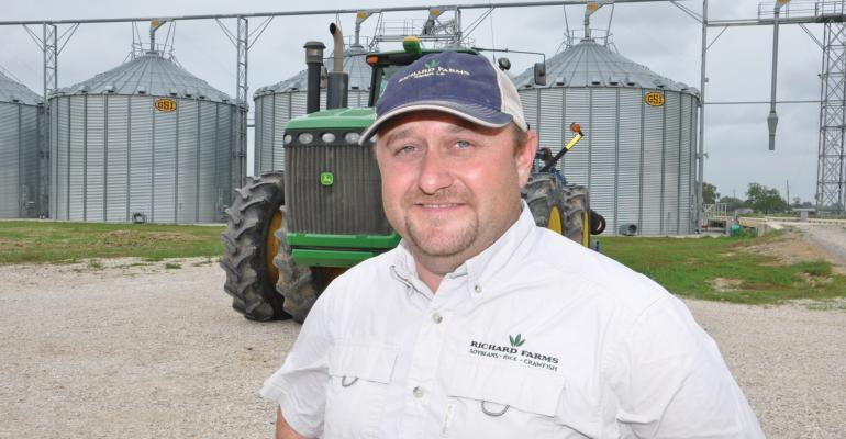 "Louisiana rice farmer Christian Richard is Rice Farming magazine's ""Rice Farmer of the Year.""  Photo by Delta Farm Press"