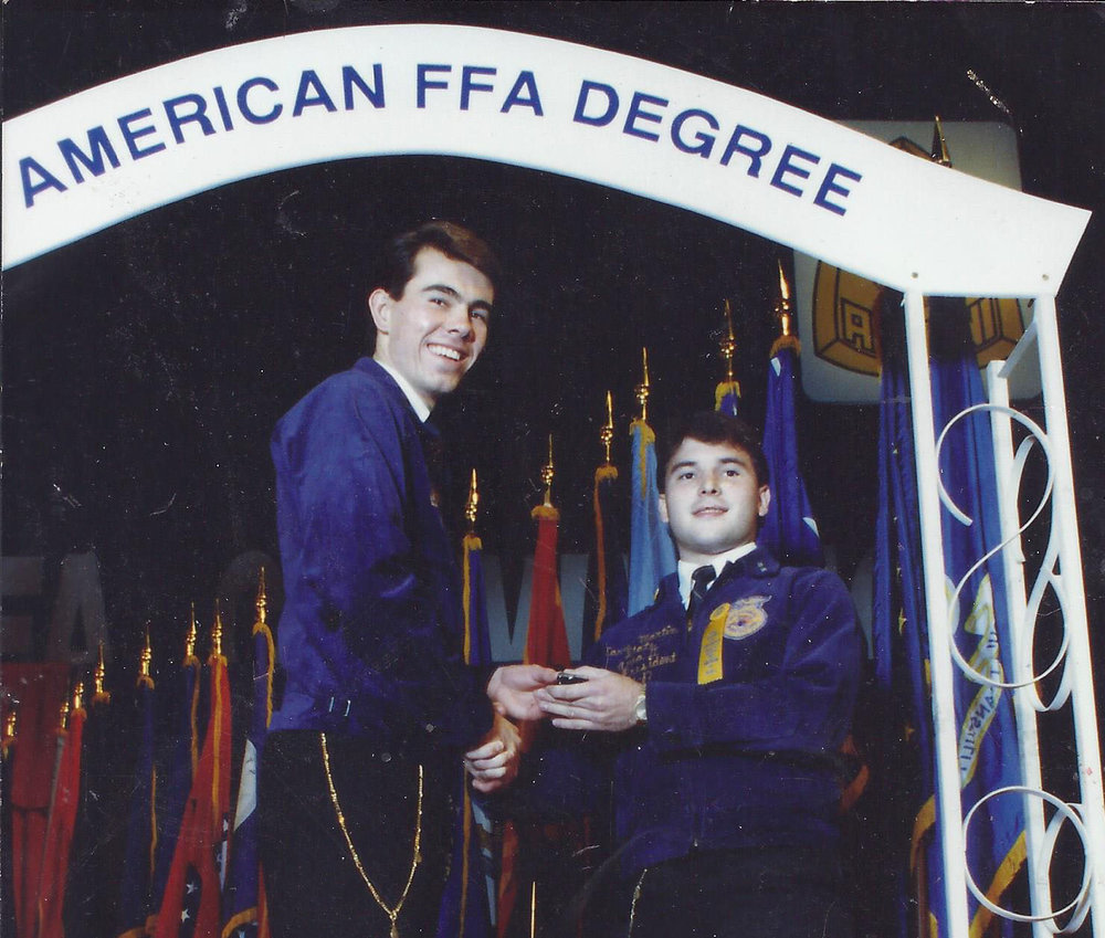 The FFA Played a huge Role in my career development.  I Served as a state ffa officer for two years and earned my american ffa degree in 1987.