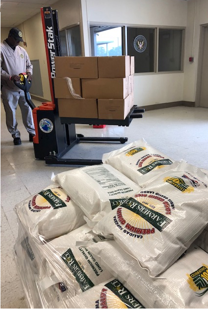 Rice donations stack up