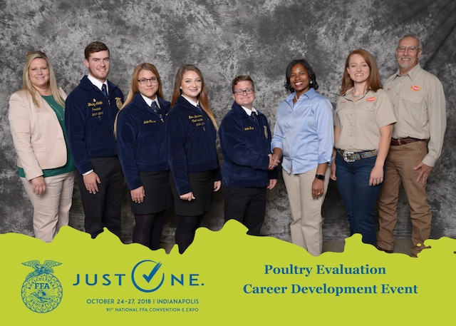 Pictured left to right: Advisor Sadie Phelps, Team Members: Wesley Adolph, Jada Galliano, Madelyn Fernandez, Chance Borne
