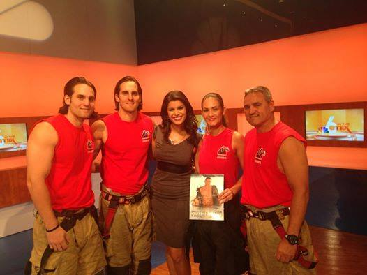The South Florida Firefighter's Calendar with Roxanne Vargas of NBC 6 Miami and 6 in the Mix.