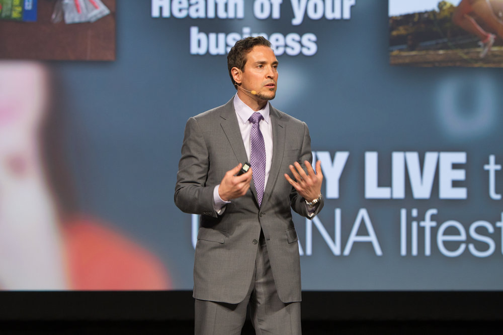 Speaking to over 550 guests at a nutrition conference