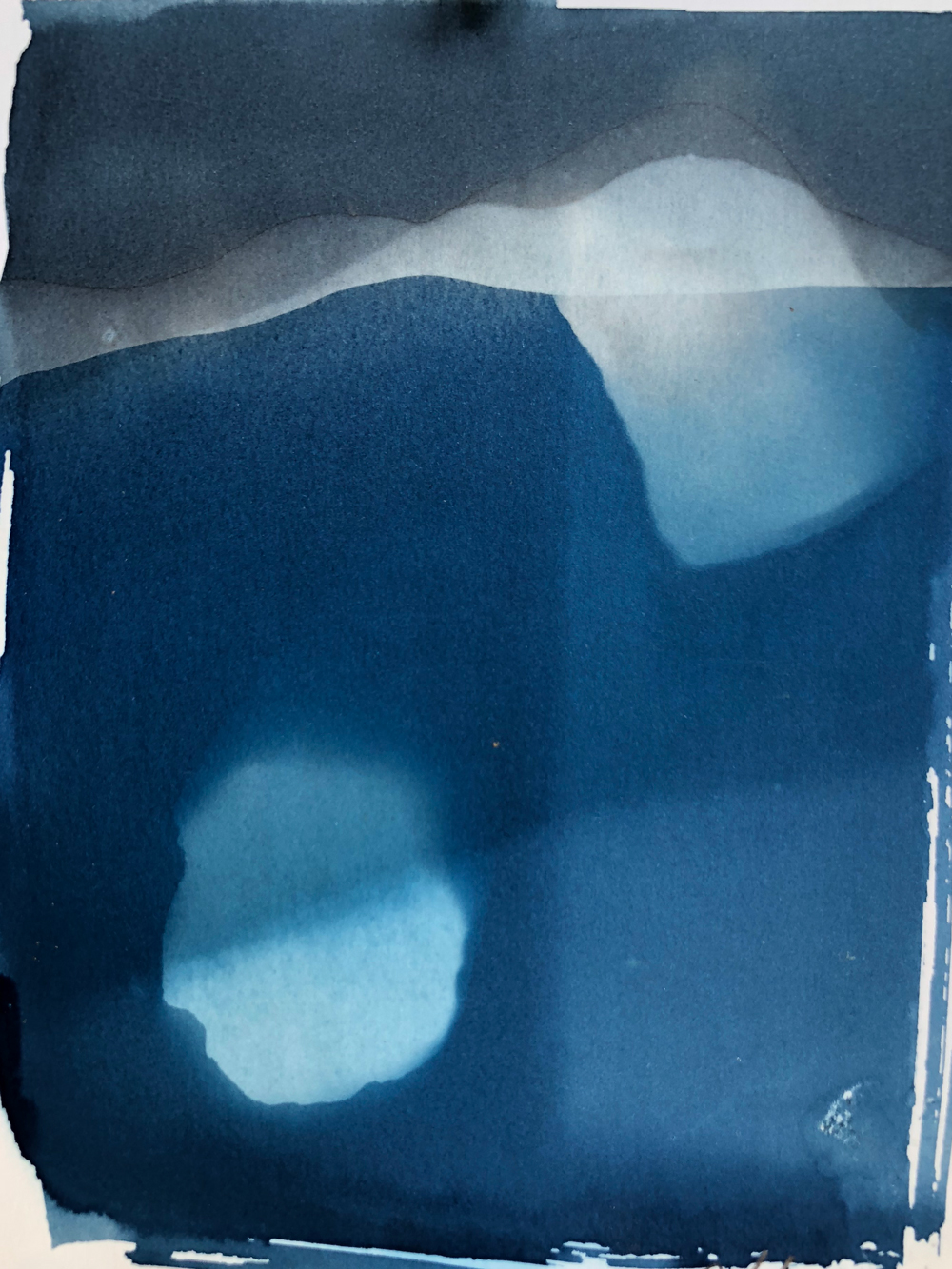 Canal Prints - (2018) Cyanotype prints created by the rocks and water of the Gowanus Canal.