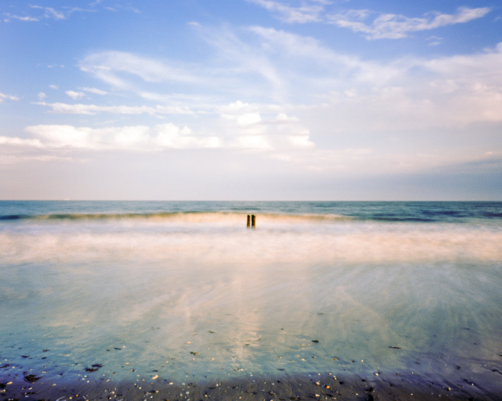 """#3 (Rockaway Beach), 2016.  Large format pinhole image; 60""""H x 75""""W Digital archival pigment print on Hahnemühle Ultra Smooth 305 archival paper."""