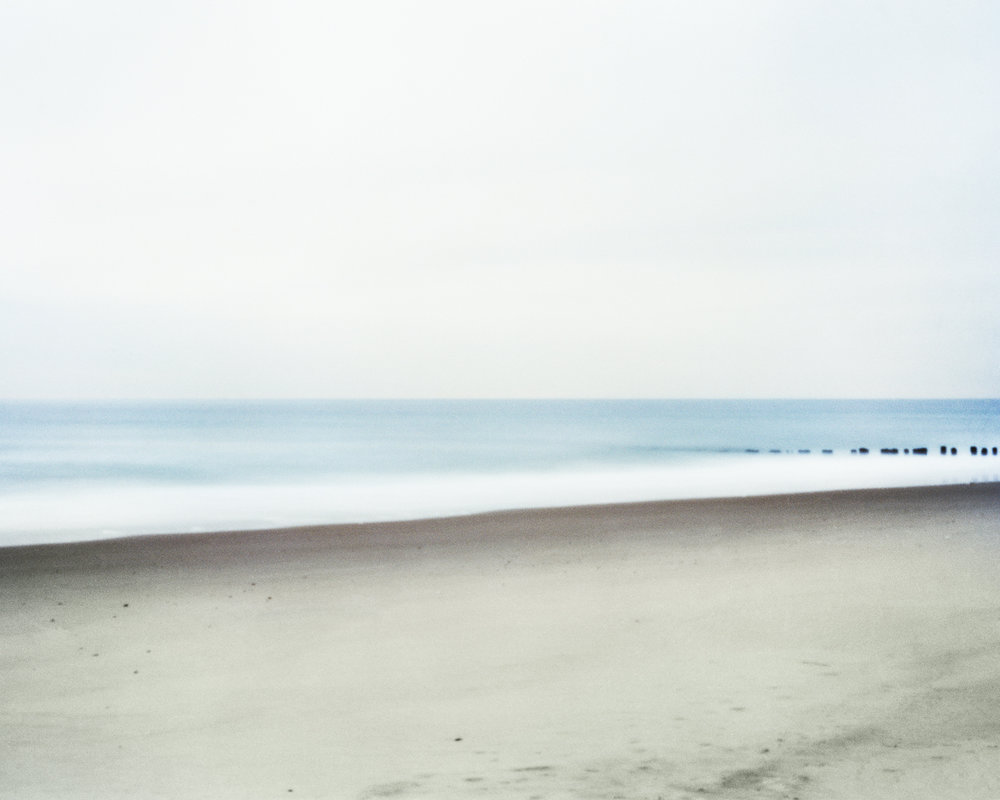 """#28 (Rockaway Beach), 2018.  Large format pinhole image; 60""""H x 75""""W Digital archival pigment print on Hahnemühle Ultra Smooth 305 archival paper."""