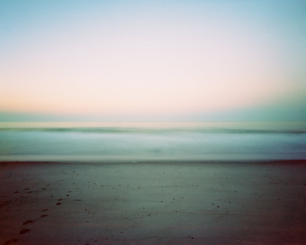 "#35 (10 hrs, Rockaway Beach), 2017.  10-hour large format pinhole exposure. 17""H x 21""W Digital archival pigment print on Hahnemühle Ultra Smooth 305 archival paper."