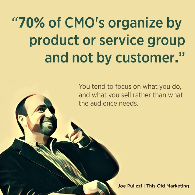 Great comment from @joepulizzi on #thisoldmarketing on how hard #contentmarketing is, when organized this way.