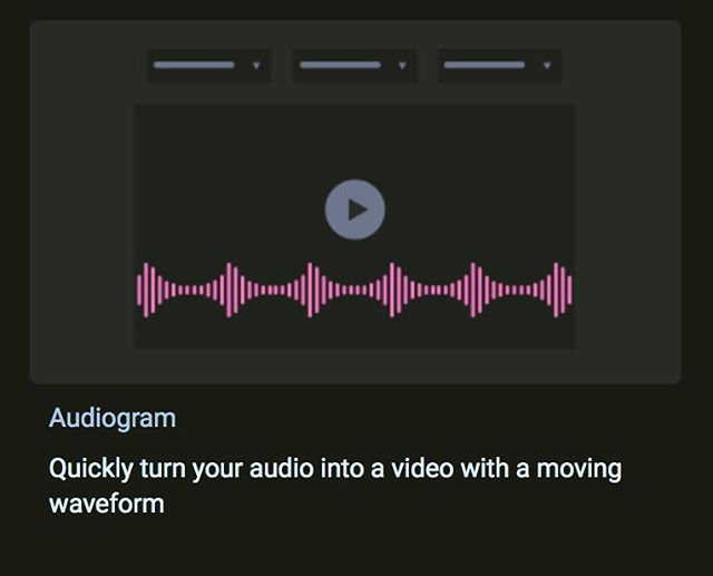 #audiogram online tool - create #digitalmarketing videos with web-based editor headliner.sparemin.com @sparemin