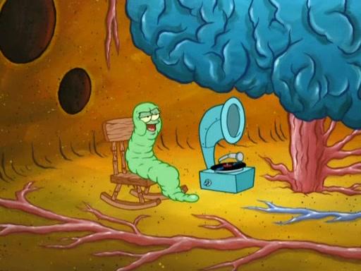 http://spongebob.wikia.com/wiki/File:Spongebob%27s_brain_in_earworm..jpg