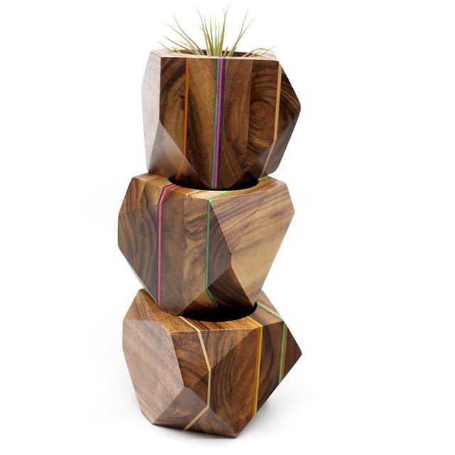 Small batch Acacia and Maple veneer planters just listed in @adrianmartinus shop🌈🌱 #planters #design #vase #homedecor #geometric #wood #woodworking #plants #airplants #cactus #plant #plantlife #plantsofinstagram #yyc #yycdesign #yycart #yycnow