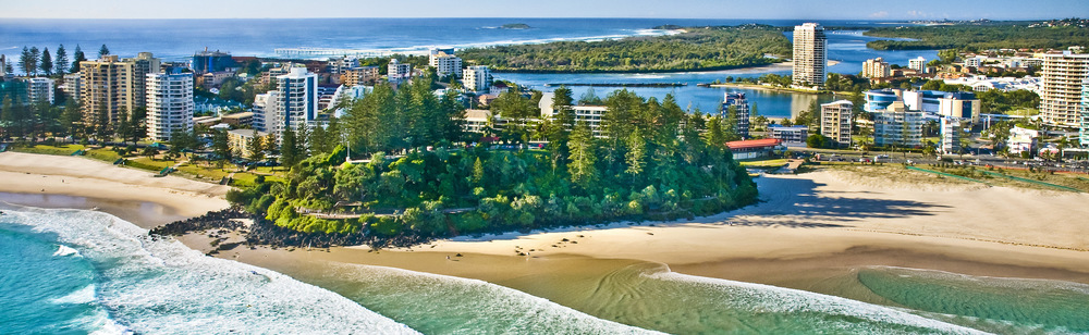 COOLANGATTA, QUEENSLAND - AUSTRALIA - PANORAMA  (PHOTO CREDIT BELOW)