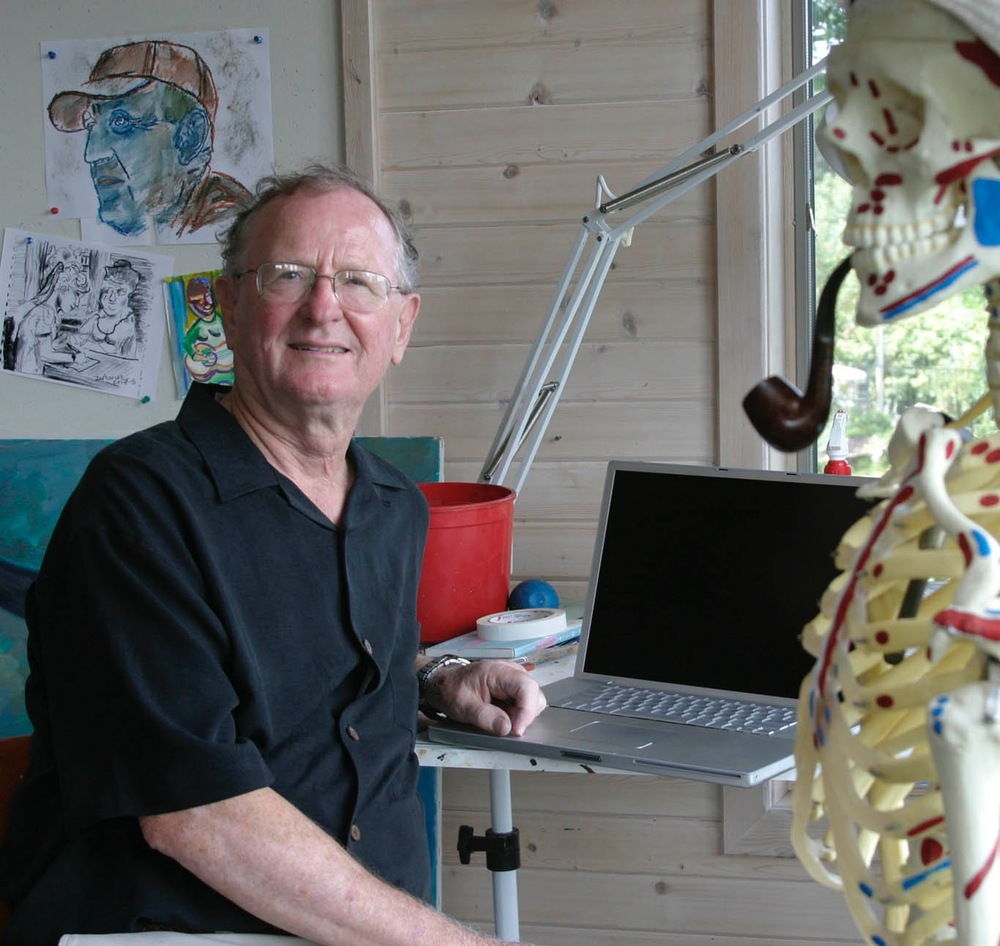 My Dad, Donald Maurer. He's quite the polymath, let me tell you. He's not only an engineer and a scientist, but digs computers, art, literature, and golf. He's also written several theatrical works and has a cool skeleton with a pipe! (That's George. Say 'hi' George!)