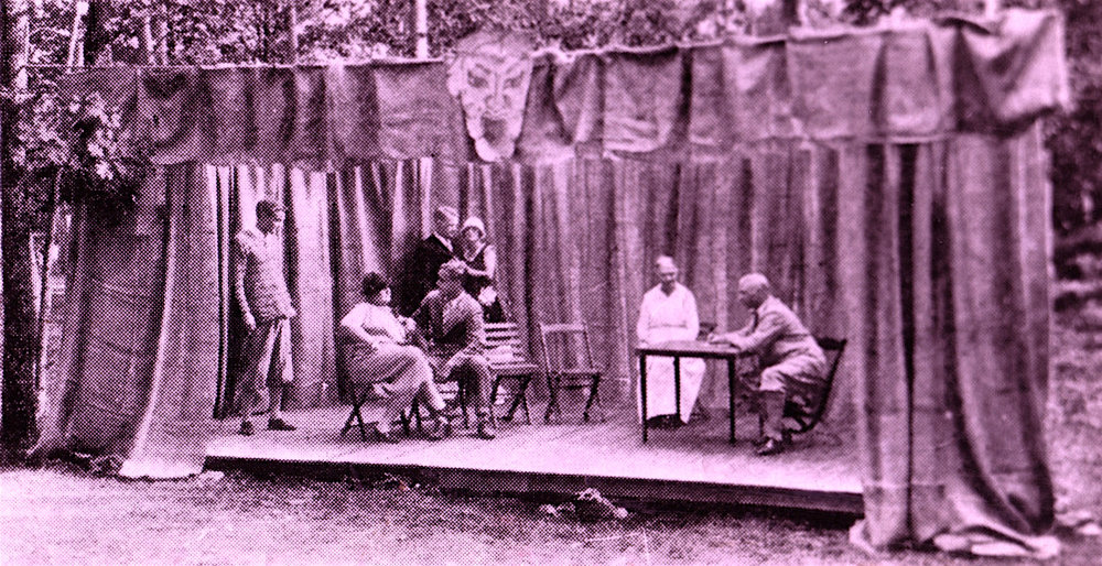 Vintage Play Photo Depicting Transformation Taking Place