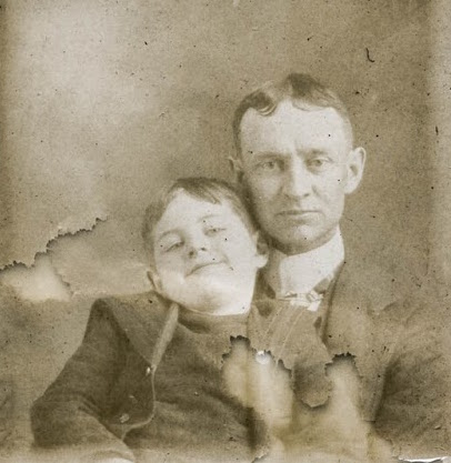 Father and Son Vintage Photo