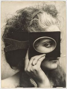 Masked Woman Vintage Photo