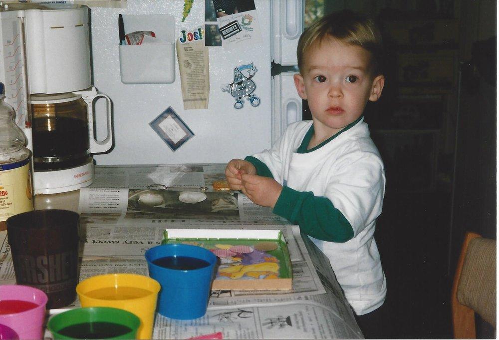 Josh one month after diabetes diagnoses.