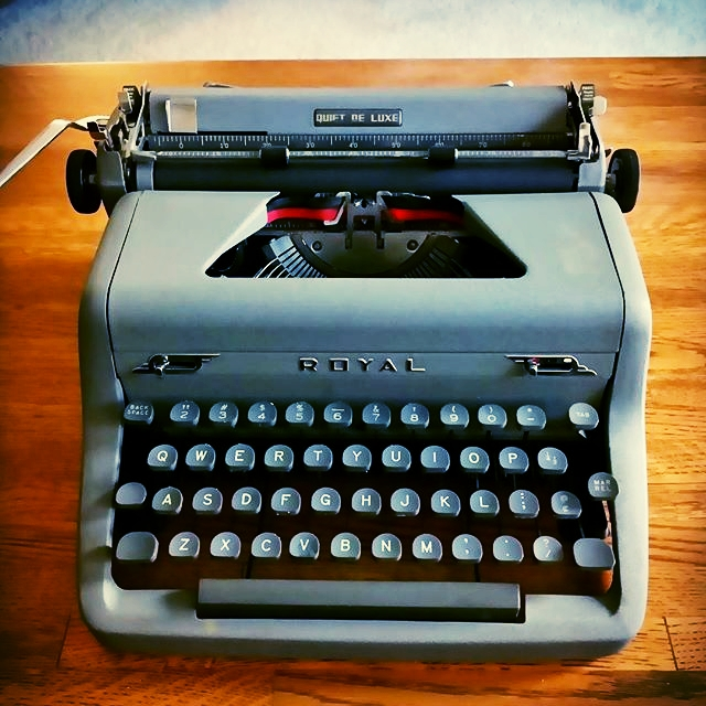 Typewriter photo - The Napkin Chapters by Zach Nelson, Poet from South Dakota