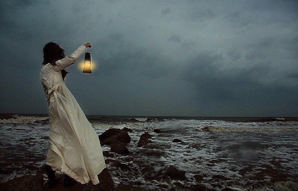 Photo of Girl in Storm: Public Domain CC0