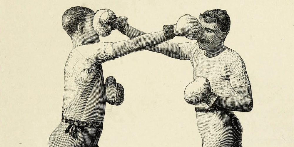 Vintage Photo of Two Men Boxing (Source: Public Domain)