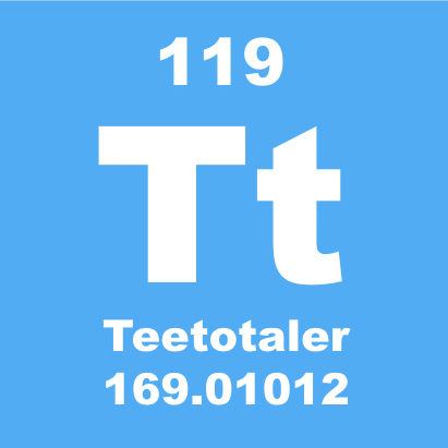 Teetotaler Symbol Periodic Table