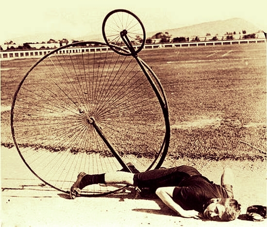 Vintage Penny Farthing Fail Transforming Failure to Success