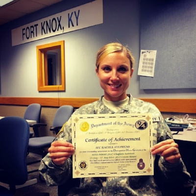 Rachel Stephens, US Military (Photo Courtesy R. Stephens)