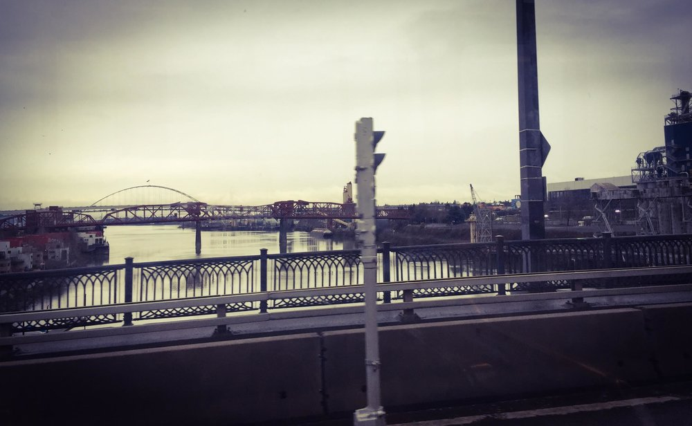 Portland bridges and industrialism.