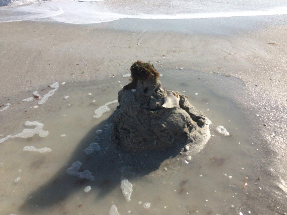 Washed up sandcastle. Change is inevitable!