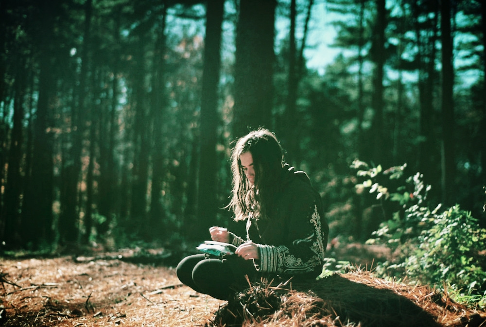 Sponsored Post Image of Young Woman Sitting in Woods (Used with permission from the website manager.)