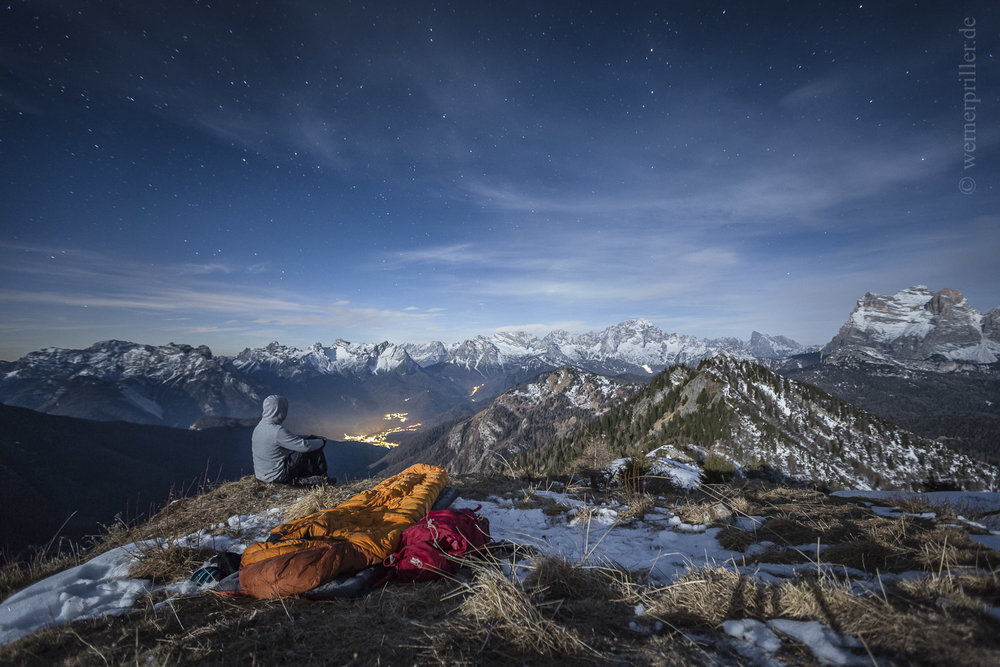 Biwak in den Dolomiten  Bivouac in the Dolomites