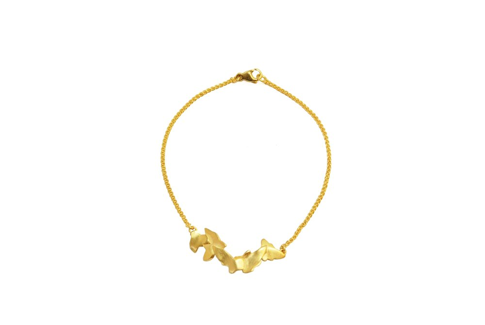Gold plated Ivy bracelet $190