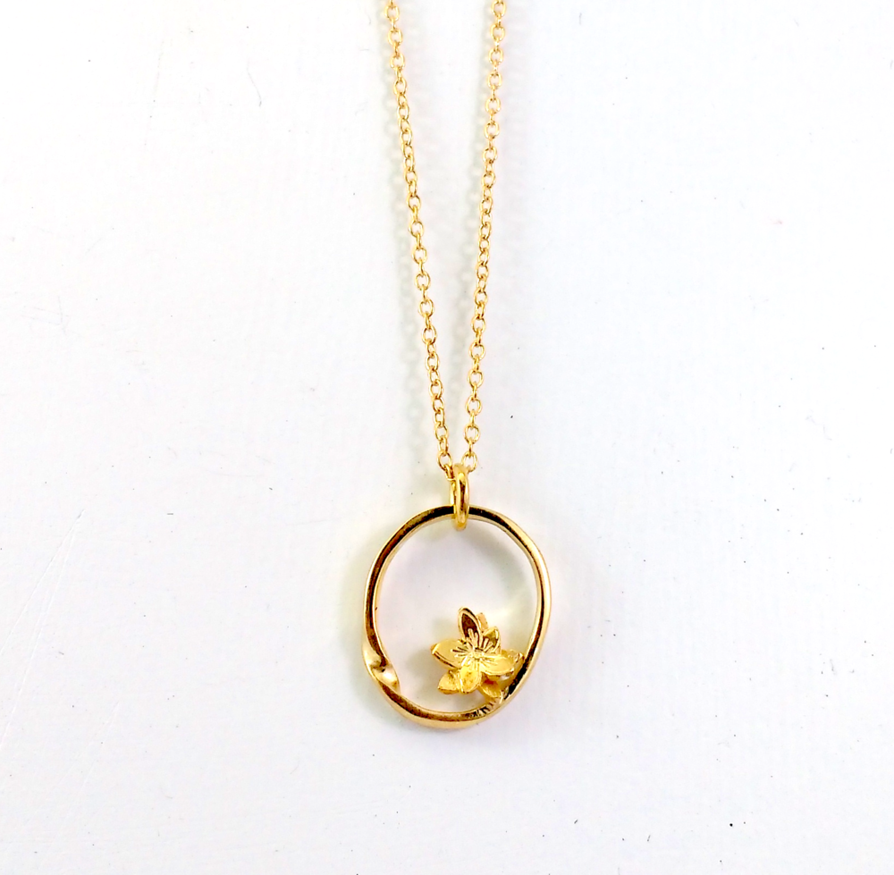 Forget-me-not Gold plate $240