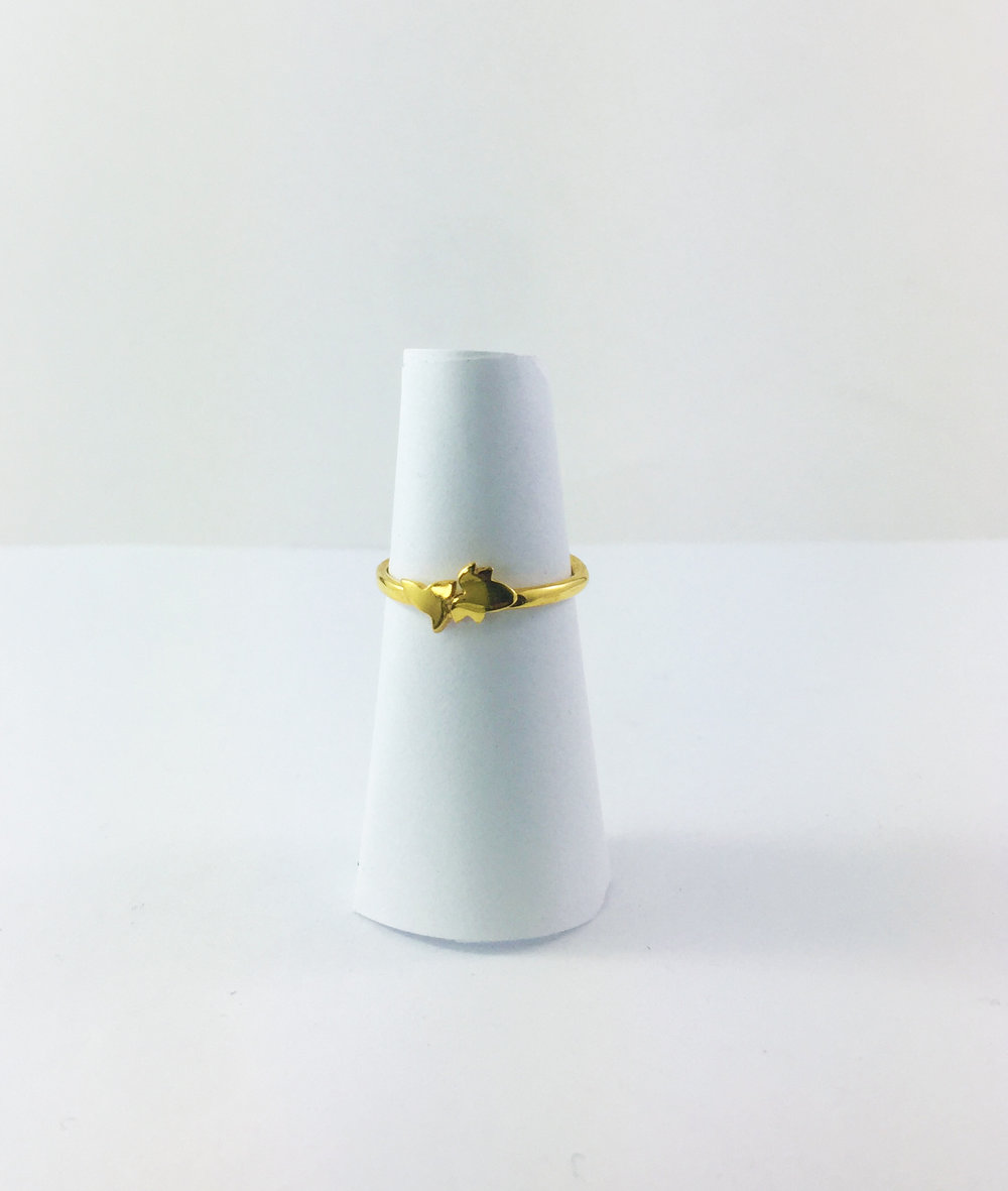 Gold plate Ivy ring $110