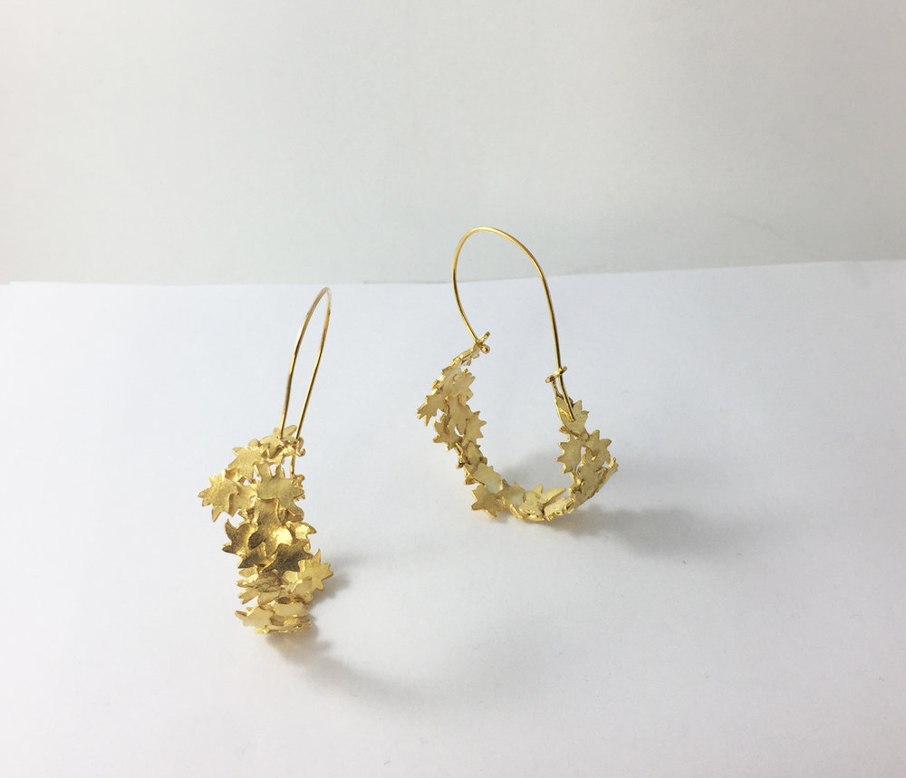Golden Blossom hoops $420