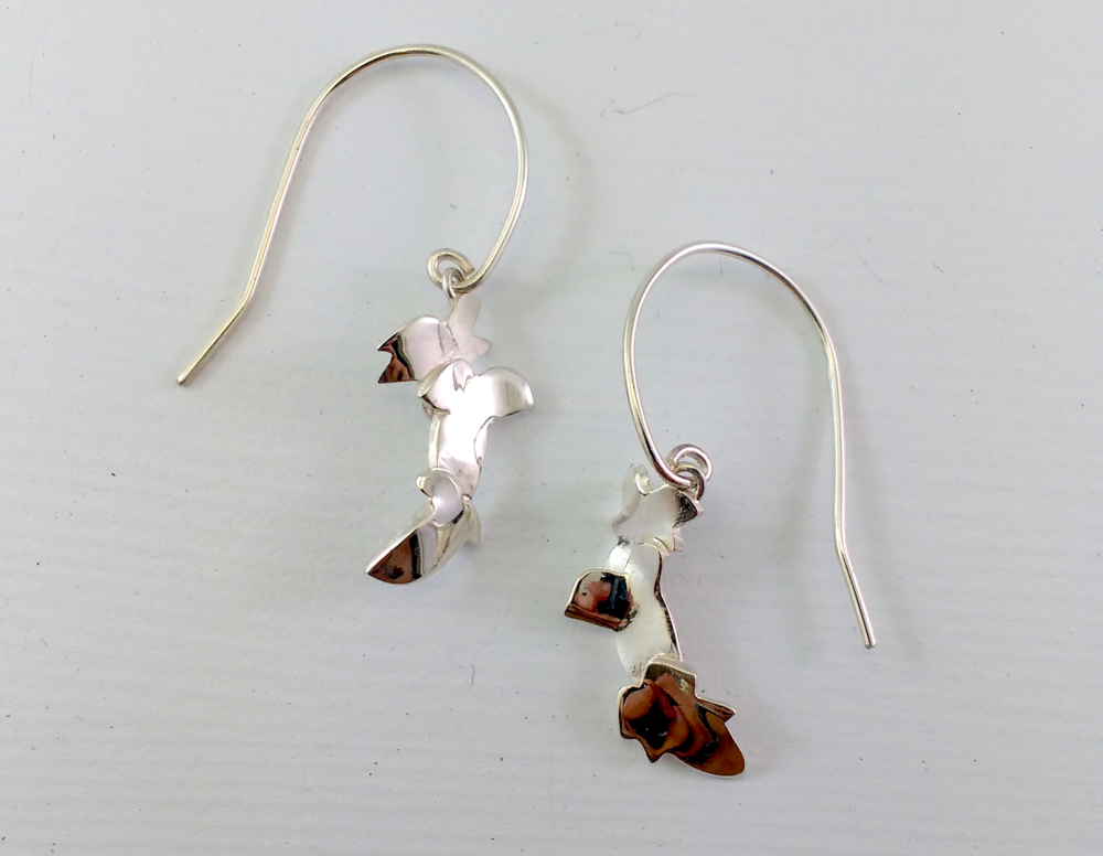 Ivy drop earrings Silver $95