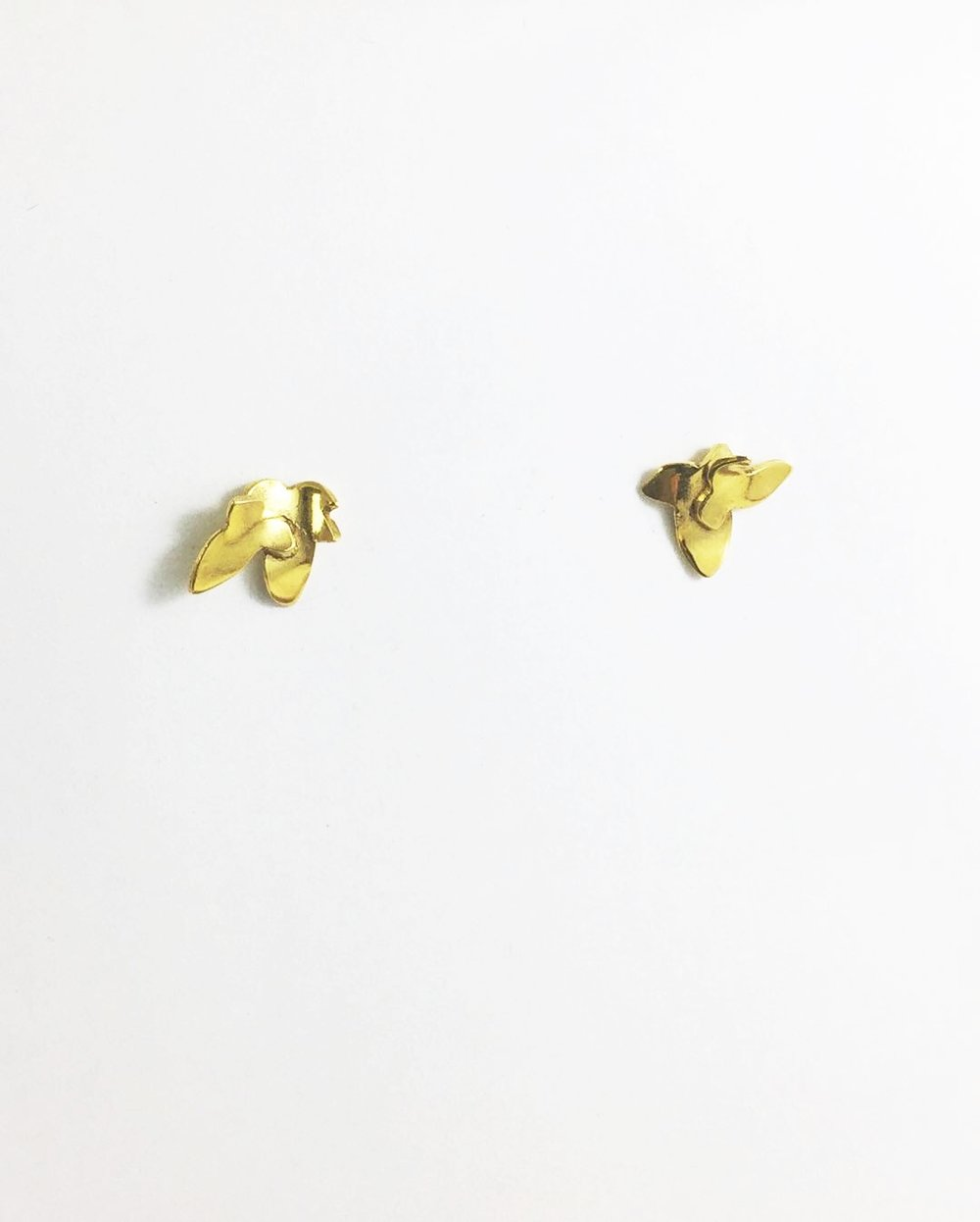 Ivy studs Gold plate $95