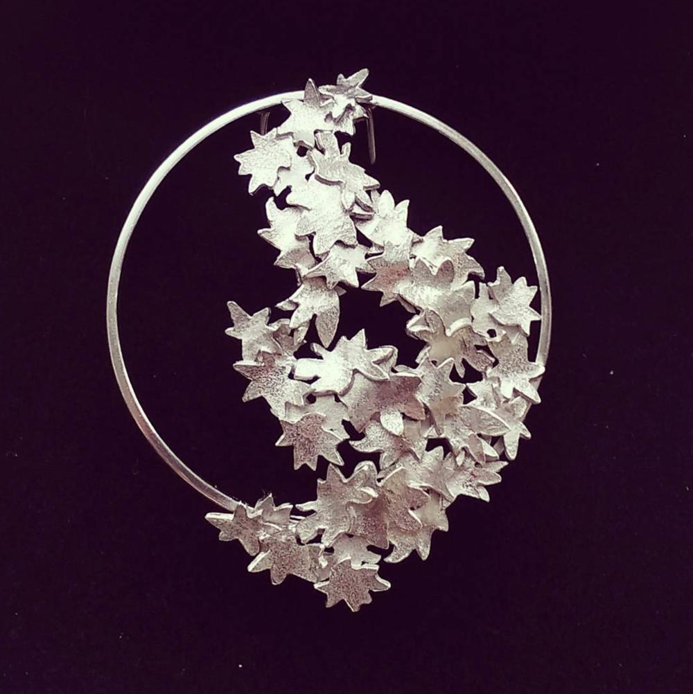 Blossom Silver brooch - Custom order
