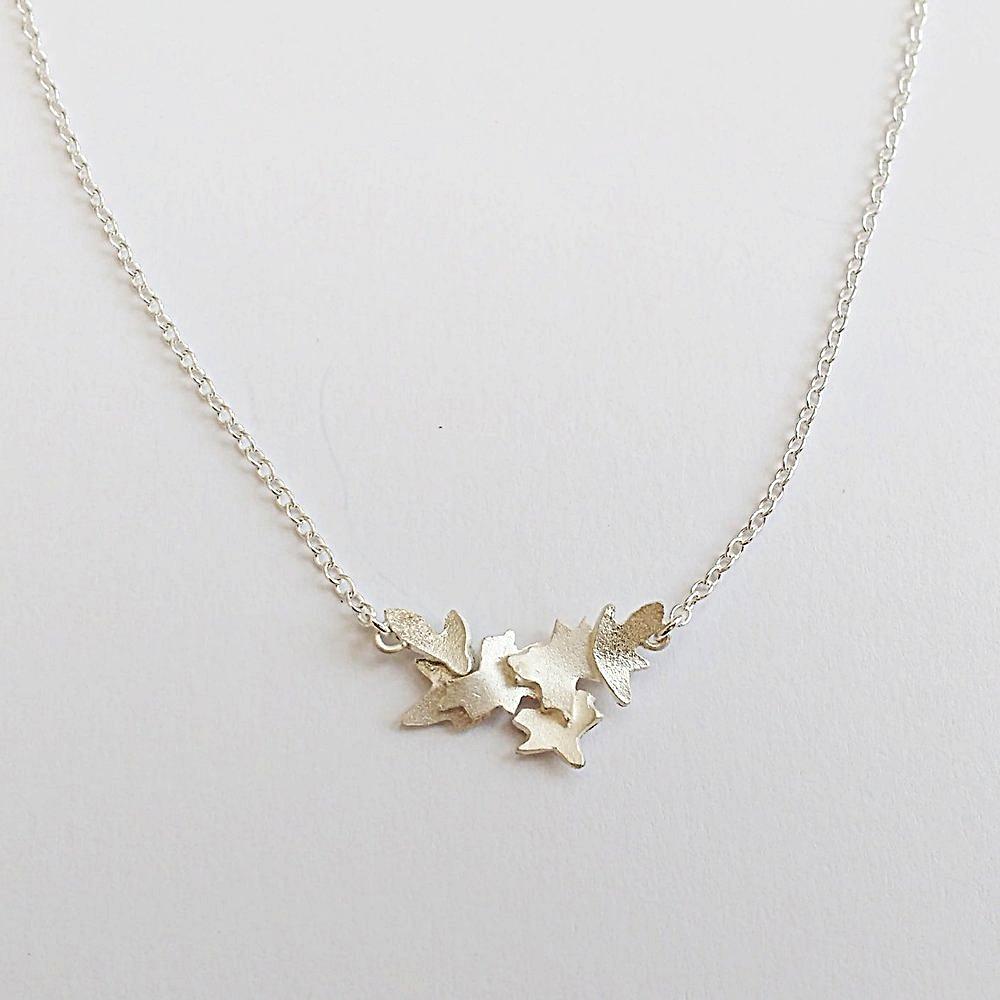 Silver Blossom pendant $125